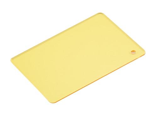 PVC透明板桔黃色密度1.4
