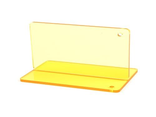 PVC透明板桔黄色密度1.4